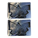 Cheap MagiDeal 2Pcs Large Butterfly Shaped Stepping Stone Plaster Concrete Mold For Garden
