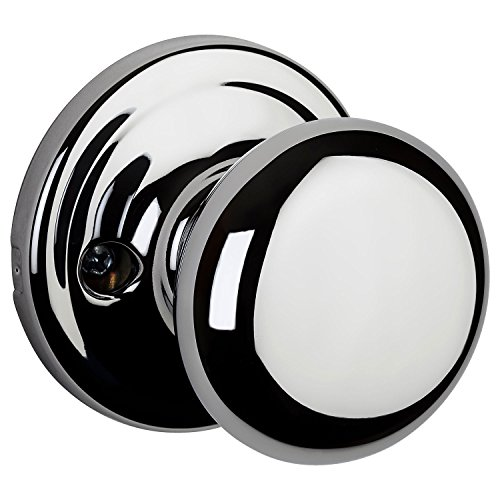 - Kwikset 97880-865 Hancock Half-Dummy Knob in Polished Chrome