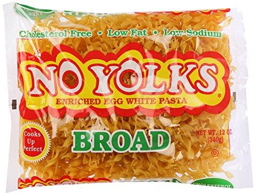 No Yolks Broad Egg Noodles, 12 Ounce (Egg White Pasta)