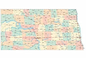 north dakota state road map glossy poster picture photo city county nd usa