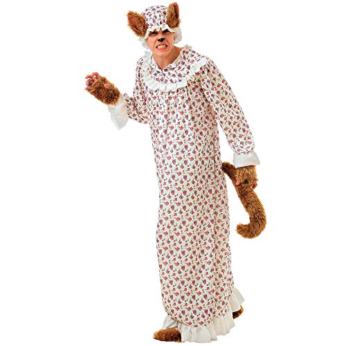 Big Bad Wolf Funny Halloween Costume, Unisex |Adult Fairy Tale Dressup, L -