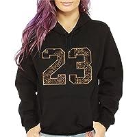 CaliDesign Women's Gold 23 Hoodie Sneakerhead Dope Fresh Sweatshirt Pullover