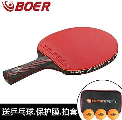 Negro Carbono King 9,8 formación o juego raqueta de tenis de mesa ...