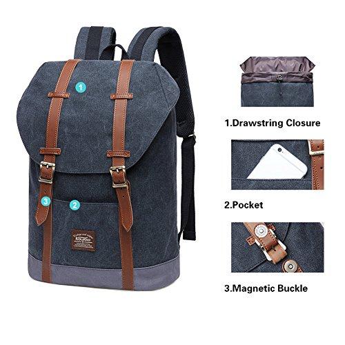 oscuro de Mochila gris Aire KAUKKO Viajar Ligero 3 Deporte para Libre Azul Bolsa Casual 16