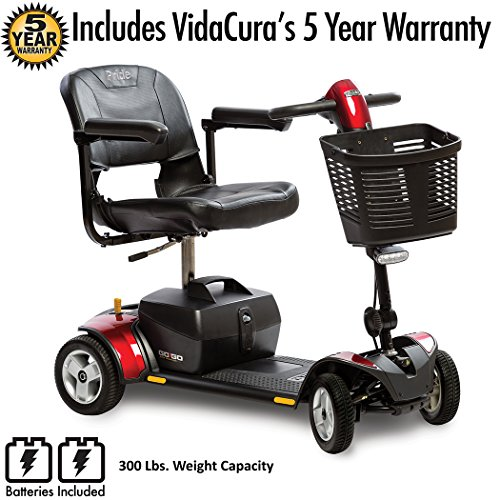 Pride Go-Go LX CTS Suspension 4-Wheel Scooter 18AH Battery Including 5 Year Extended Warranty by Drive