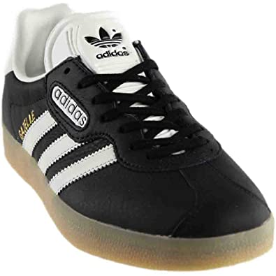 adidas Gazelle Super Mens In Black/Vintage White/Gum, 8