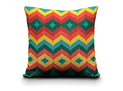 Amazon Turquoise Orange Red Pillow Covers Cotton Home Inspiration Red And Turquoise Decorative Pillows