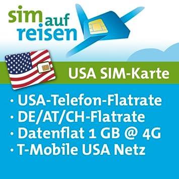 Sim Karte Usa Urlaub.Usa Prepaid Sim Karte T Mobile Netz Daten Flat 1 Gb 4g Usa Flat De At Ch Flat Festnetz