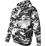 Code V Youth Camouflage Pullover Hooded Blended Sweatshirt with Pouch Pocket - Green Woodland - L