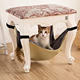 VicDELE Cat Hanging Hammock Under Chairs Table Crate Cage Pet Bed Soft Pet Crib Space Saving Cat Hanging Bed Mat for Kitten/Small Dogs/Rabbits