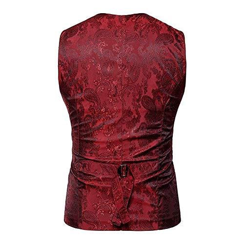 Rouge Taille Blazer Royal Coloré Noir Outwear Blue Double Made Xl Manteau M Vest 2018 Hommes Décontracté couleur Men Travail Poitrine Mode Vest Costume Taille YwtpqU1p