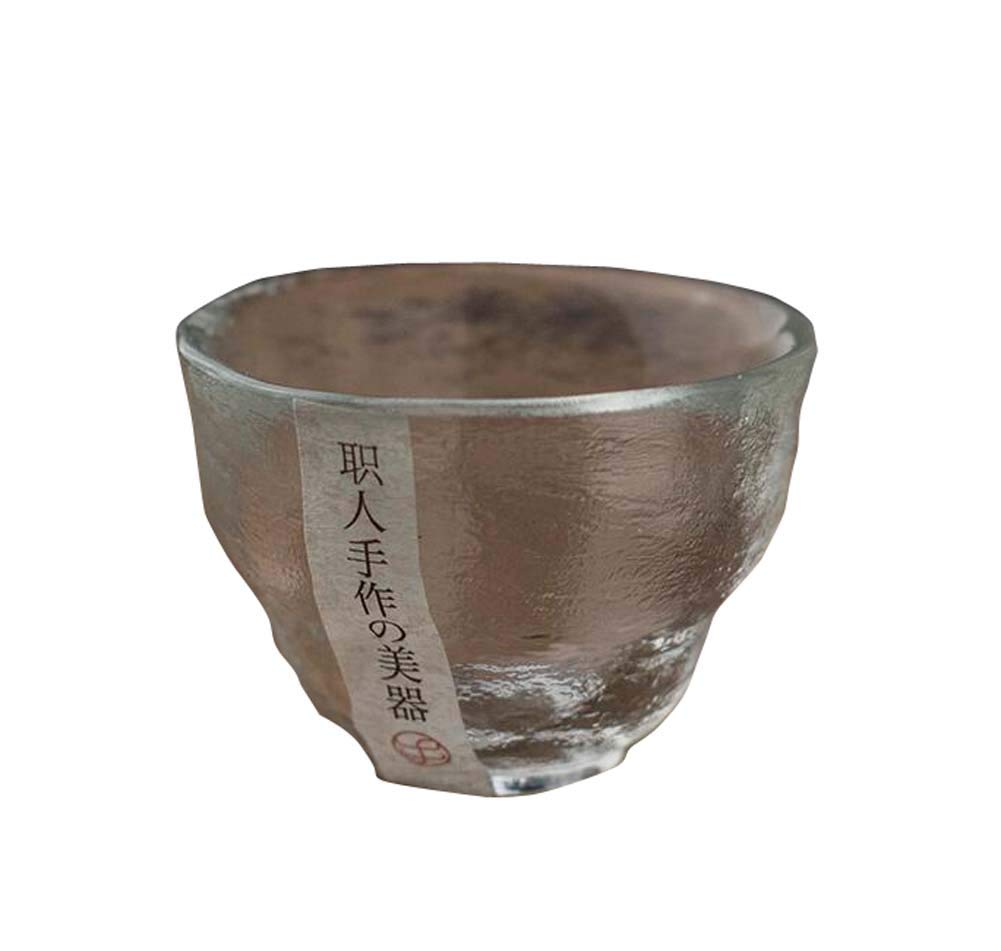 Black Temptation One Japanese Tea Sake Cup Clear Short Glass Cup Wine Liquor Spirit Sake Cup F