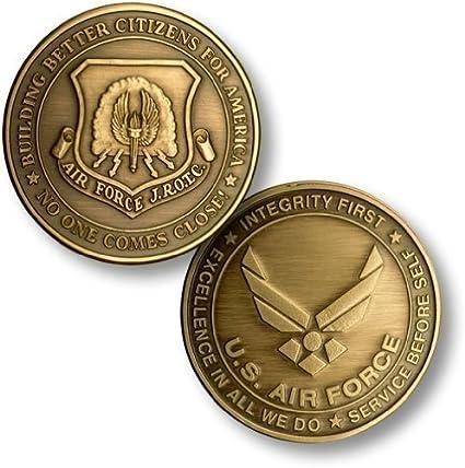 02b72bf2303a Amazon.com  JROTC New Air Force Emblem Bronze Antique Challenge Coin ...
