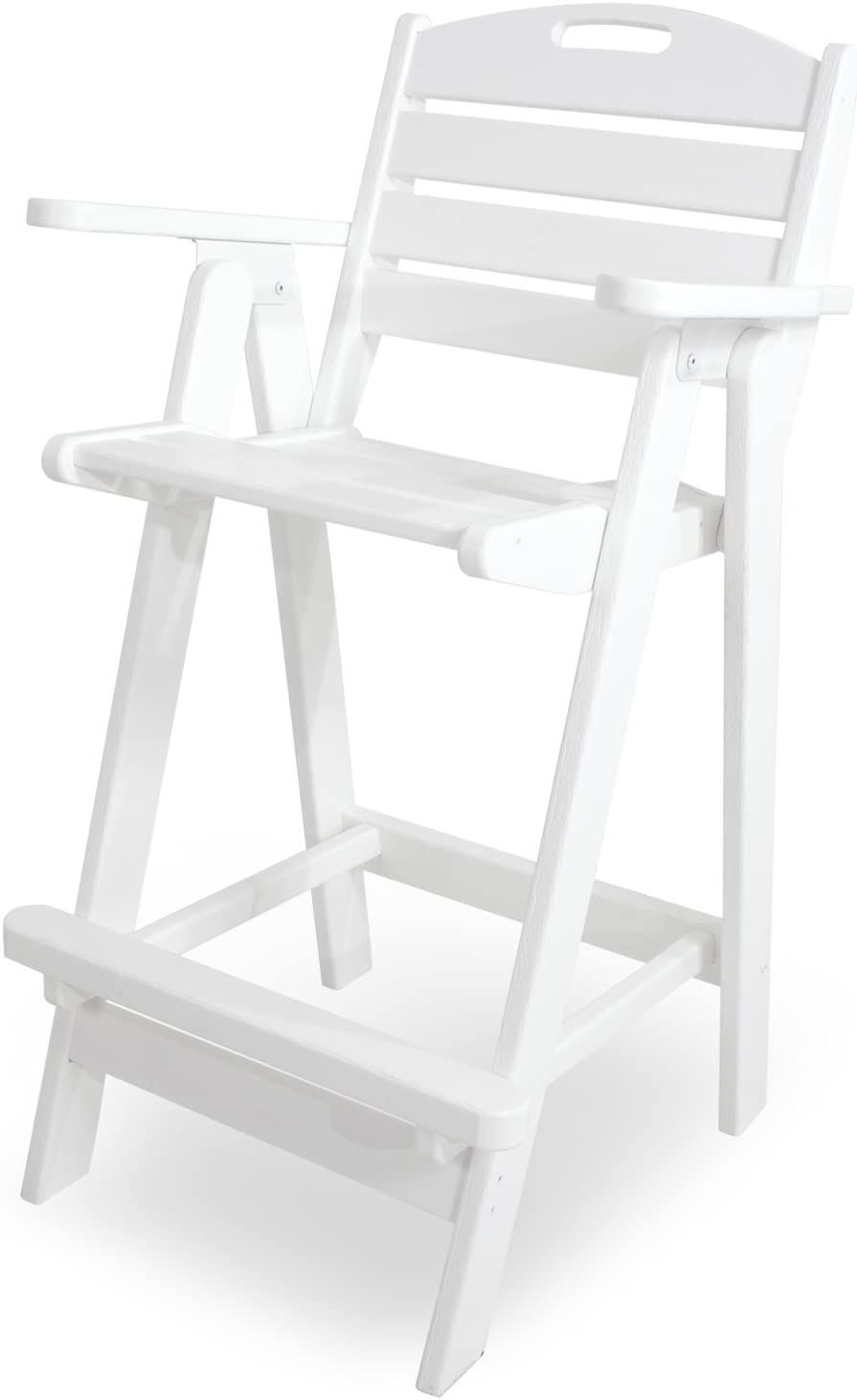 B001VNCJMW POLYWOOD NCB46WH Nautical Bar Chair, White 51vNwhpA0GL