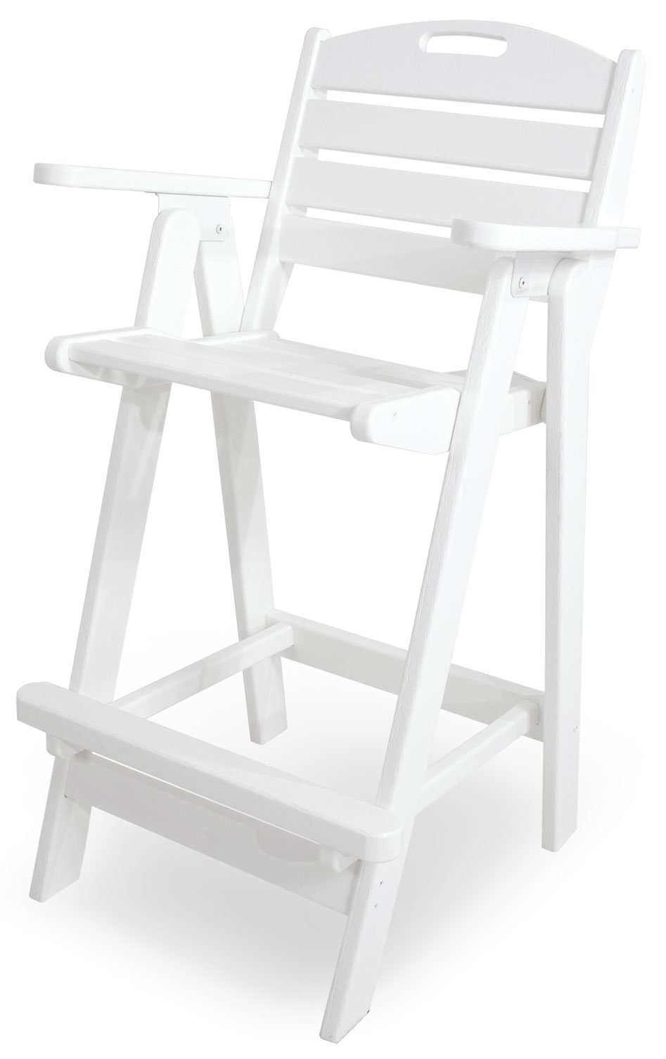 POLYWOOD NCB46WH Nautical Bar Chair, White by POLYWOOD (Image #1)