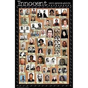 (24x36) Celebrity Mugshots - Michael Jackson, Johnny Cash, Robert Downey Jr., Eminem & More, Poster