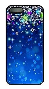 iPhone 6 4.7 Case, Unique Custom Design Snow Night Hard PC Black Case Cover for iPhone 6 4.7