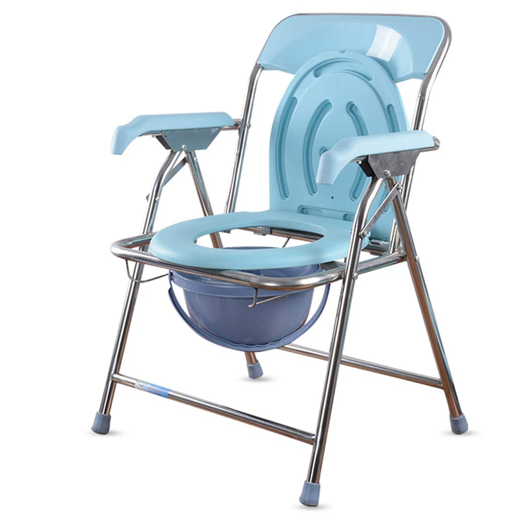 G-LXYZBQSHYP Bath Chair Elderly Mobile Toilet Potty Chair Folding Toilet Bowl Move at Any Time Easy to Use by G-LXYZBQSHYP