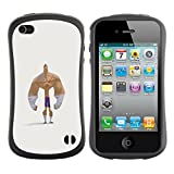iFace Series Soft Tpu Skin Bumper Case Cover For Apple iPhone 4 / iPhone 4S , ( Forearms Bodybuilder Funny Man Strong )