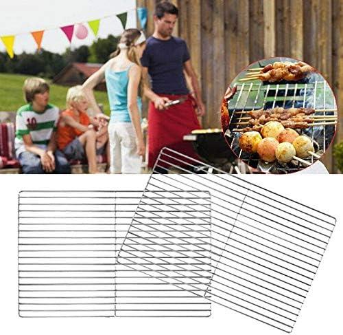 FzJs-J-in Grille de barbecue en acier inoxydable Grille de remplacement pour le camping, Small