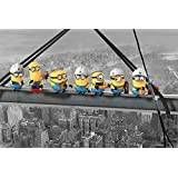 """Despicable Me - Movie Poster / Print (The Minions - Lunch Above Manhattan / Eating On Girder / Skyscraper) (Size: 36"""" x 24"""")"""