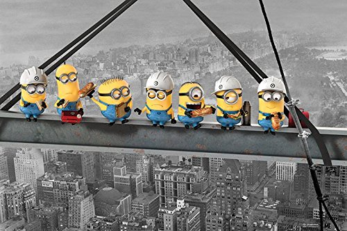 - Despicable Me - Movie Poster / Print (The Minions - Lunch Above Manhattan / Eating On Girder / Skyscraper) (Size: 36