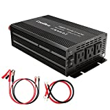 1000W Power Inverter Modified Sine Wave with 3 AC Outlets Converter 12V DC to 110V AC Inverter for Car Home RV Solar (1000w Cont/2000w Peak)