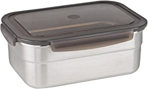 STENCOC Stainless Steel BPA Free Rectangular Leakproof Airtight Kimchi/Pickle / Salad/Fruit / Food Storage Container Saver (1.7L / 57.5oz / 8.3