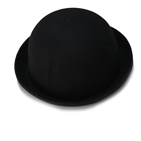 Cappello Pura Lana Bombetta Donna 57cm Nero Classico Retro Idea Regalo 1557e1a86c3c