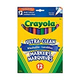 Crayola 12 Washable Fine Line Markers, Bold, School and Craft Supplies, Drawing Gift for Boys and Girls, Kids, Teens Ages 5, 6,7, 8 and Up, Back to school, School supplies, Arts and Crafts,  Gifting