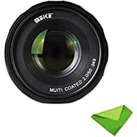 Meike MK-4/3-50-2.0 50mm f 2.0 Large Aperture Manual Focus lens APS-C For 4/3 System Mirrorless Cameras Olympus/Panasonic With EACHSHOT Lens Cleaning Cloth