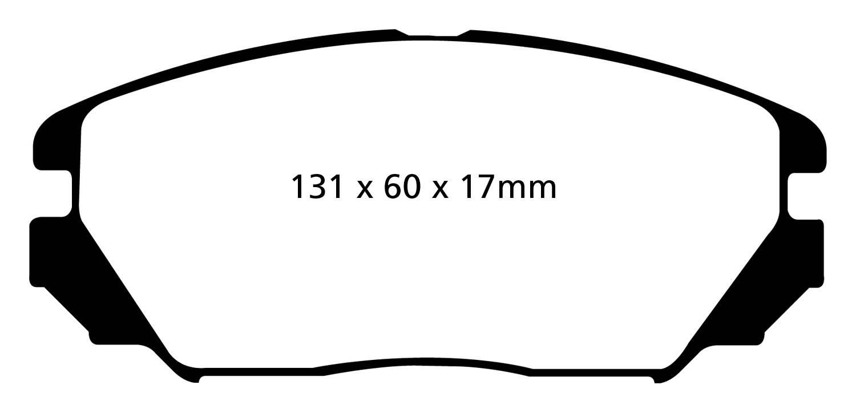 EBC Brakes DP31757C Redstuff Ceramic Low Dust Brake Pad