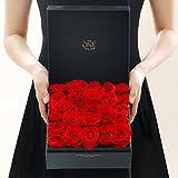 Eternal Flower Gift Box/Red Ecuadorian Roses Box/ Birthday Gift-red