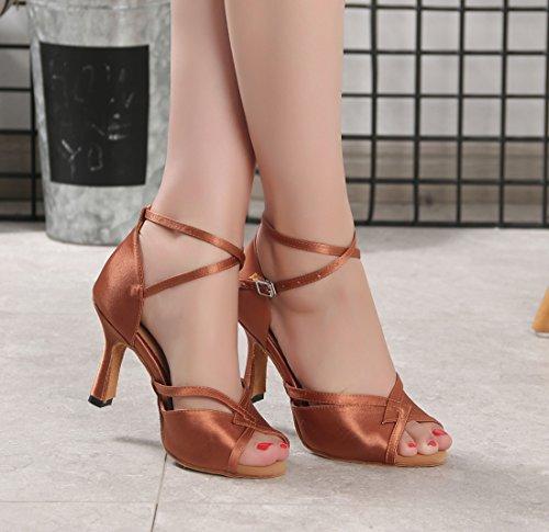 Marrone Heel Moderno MGM e EU 35 7 Jazz Joymod Brown 8cm Donna 1qSUO