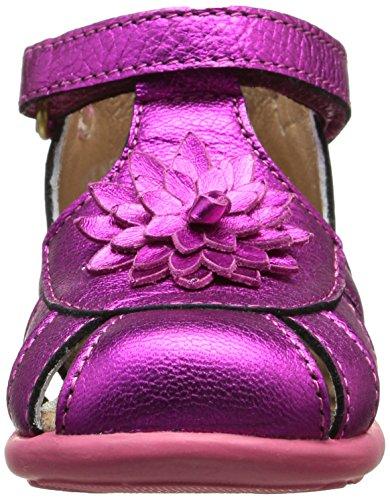 Mod8 Loulou - Zapatos de primeros pasos Bebé-Niños Rosa - Rose (Fuchsia)