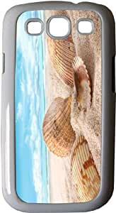 Rikki KnightTM Seashells in Sand on Beach - White Hard Rubber TPU Case Cover for Samsung? Galaxy i9300 Galaxy S3