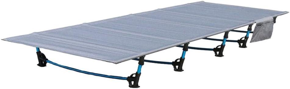 HUKOER plegable cama sofá cama al aire libre Viajes Camping senderismo aleación de aluminio ultraligeros cama plegable para acampada, dormir cama para ...