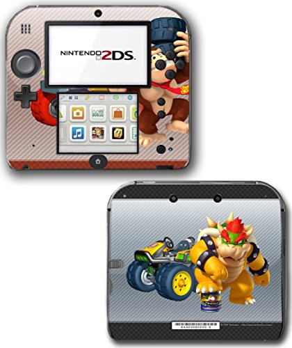 Price comparison product image Mario Kart 7 8 3D Bowser Donkey Kong Video Game Vinyl Decal Skin Sticker Cover for Nintendo 2DS System Console