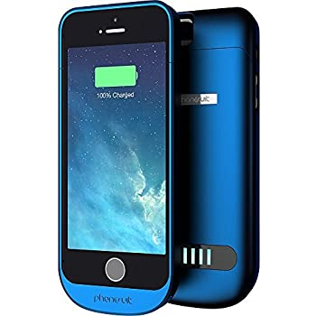 PhoneSuit Elite iPhone 5 Battery Case for iPhone 5 & iPhone 5S (Blue) 2100 mAh Giving Up to 125% Charge | Best-In-Class iPhone Charger Case Based On Performance, Durability, Feature Set, and Retail Price Point For iPhone 5 Charger Case