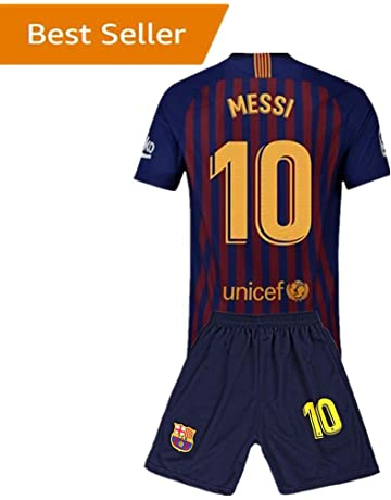 10 Messi Barcelona Kids Youth Home Boys Soccer Jersey   Shorts 18-19 56f08cd39