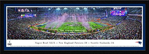 (Super Bowl 2015 - New England Patriots Champions - Blakeway Panoramas NFL Posters with Select Frame)