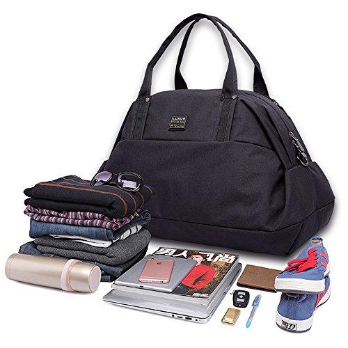 LUXUR Travel Duffel Bag Waterproof Weekender Luggage for Hiking Business Gym (50L) by LUXUR (Image #2)