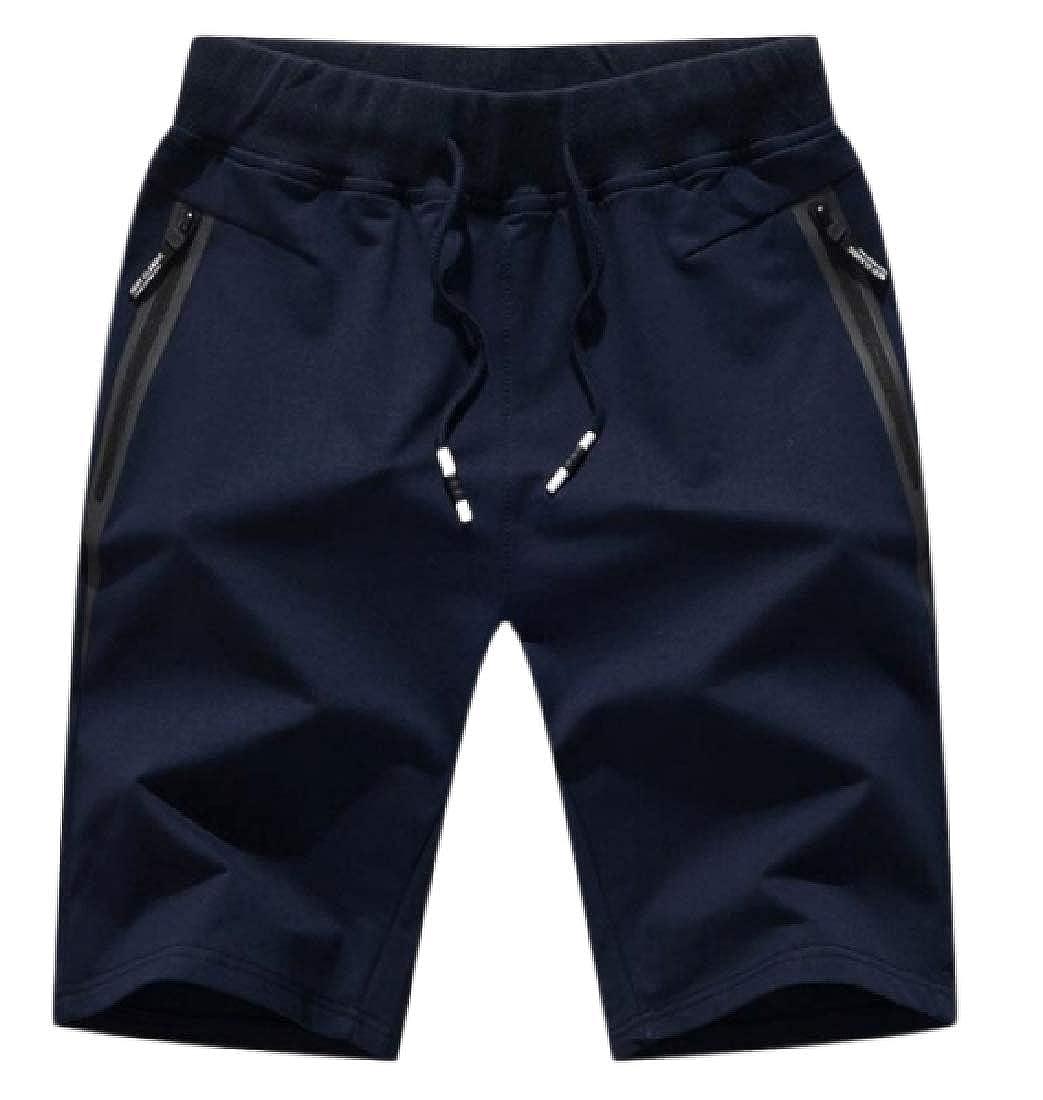 WAWAYA Mens Outdoor Stylish Drawstring Running Sports Elastic Waist Shorts