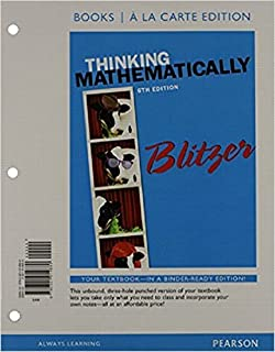Thinking mathematically 6th edition robert f blitzer thinking mathematically books a la carte edition 6th edition fandeluxe Choice Image