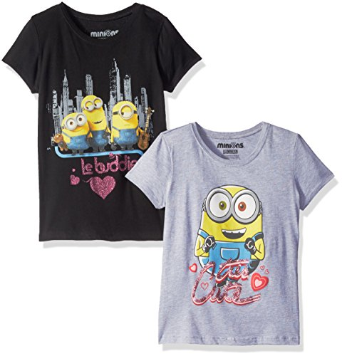 Despicable Me Little Girls' Value Pack T-Shirt Shirts,