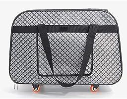 EDYUCGA Maleta con ruedas para mascotas Bolsa para trolley para ...
