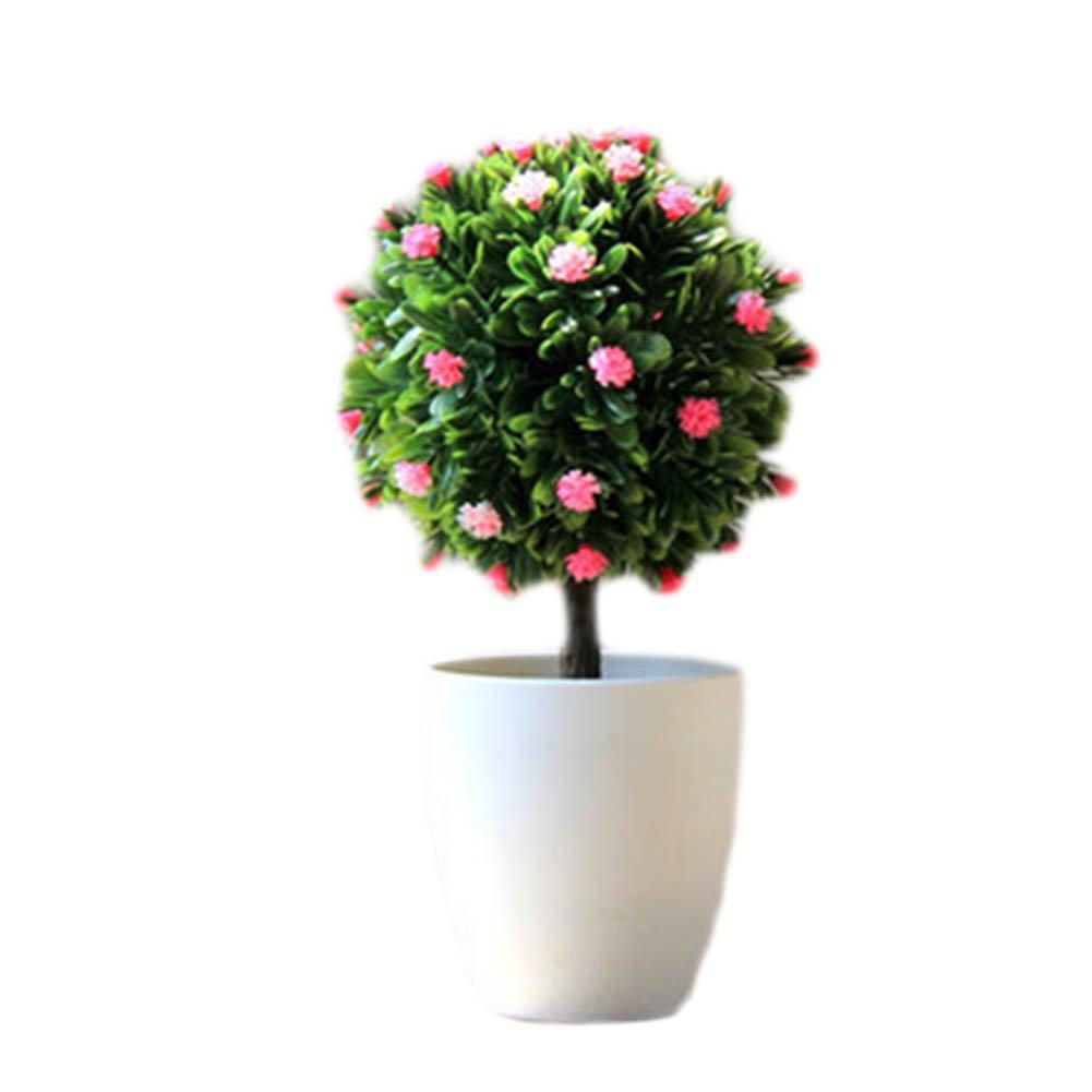 ジョージジミー人工プラスチックミニ植物Grass Flower withポットのホーム装飾、a16 B07FQQGC4M