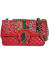 Dolce&Gabbana women's leather shoulder bag original lucia red