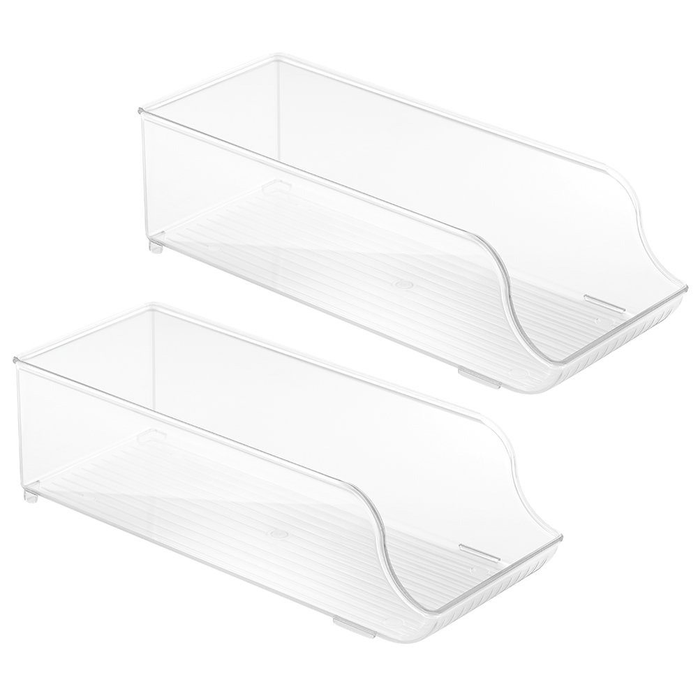 InterDesign Stackable Soda Bottle Storage Holder for Refrigerator, Kitchen Countertops - Clear 72330