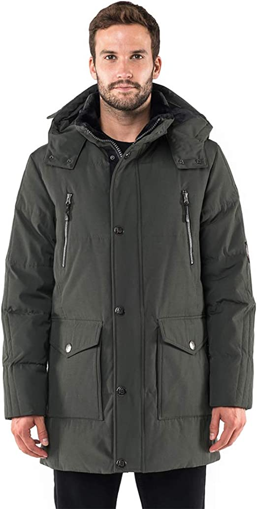 POLAR GLACIER Men's Hooded Premium Down Parka at Amazon